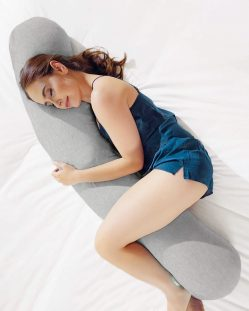Kally Body Pillow – Heathered Grey