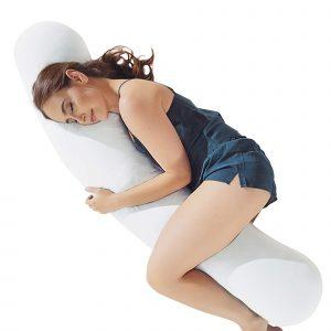 Pure white body pillow
