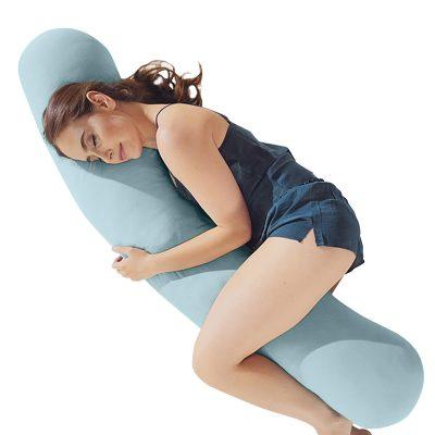 Stone blue body pillow