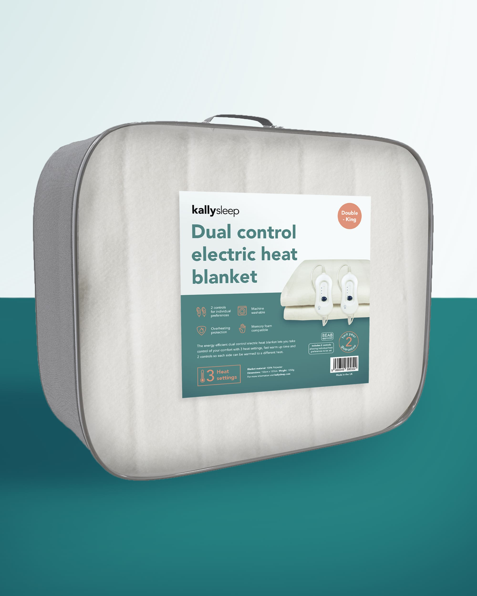 Dual Control Heat Blanket